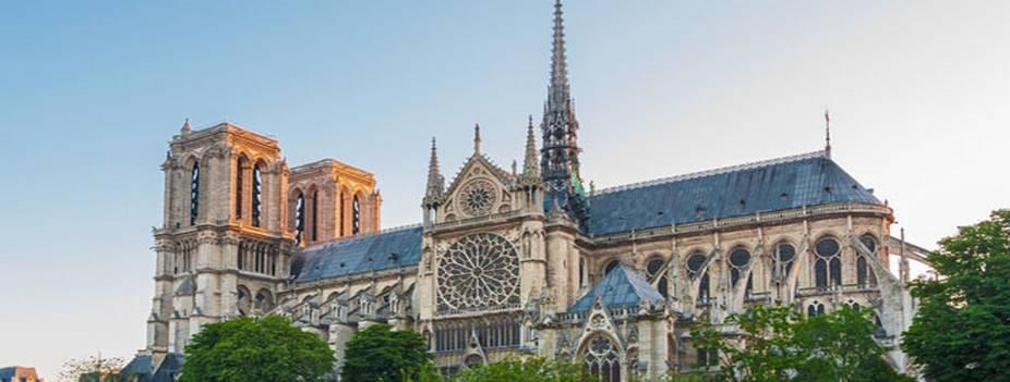 cathédrale notre dame de paris vue panoramique