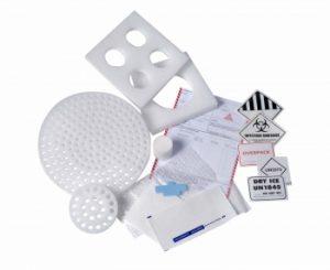 étiquette et accessoire pour emballage de matière infectieuse