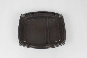 barquette 2 compartiments pour transport de repas chaud